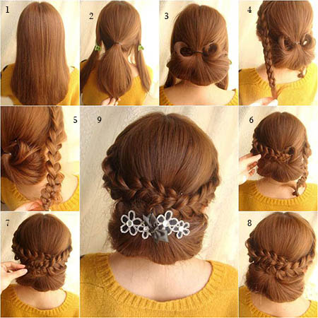 Pakistani Cute Girls Hairstyles Step By Step Simple Hairstyles For Eid