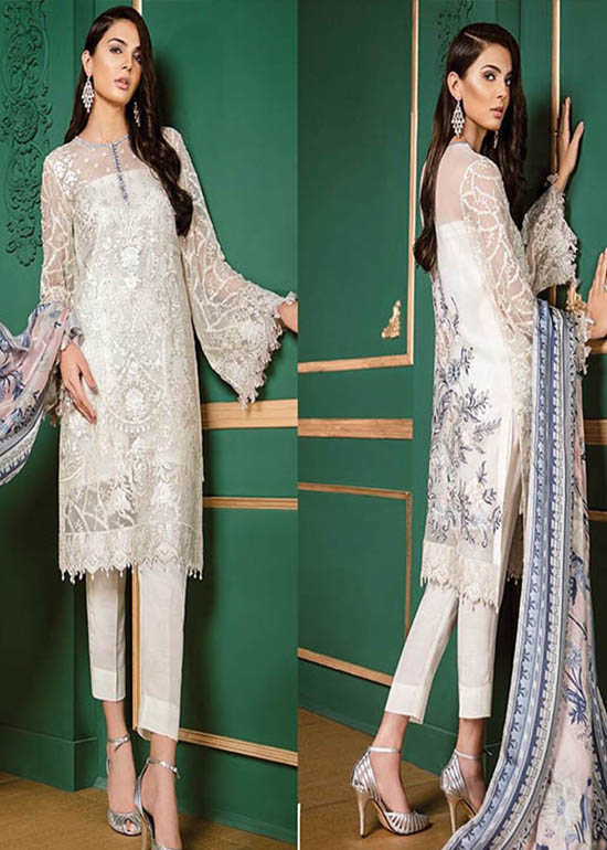 white pakistani party dresses