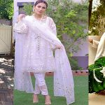 White Pakistani Party Dresses – Modish White Dresses Trend And Shalwar Kameez Fashion Trend 2019