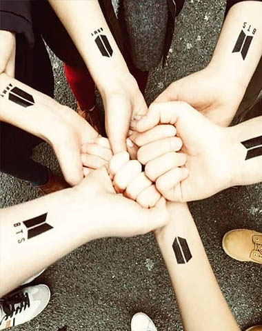 BTS Temporary Tattoos