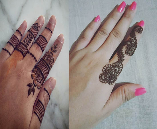 new finger mehndi design