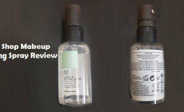body shop makeup setting spray review