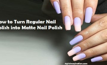 How to Turn Regular Nail Polish into Matte Nail Polish